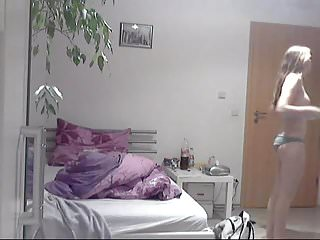 Teens bedroom hidden - Hidden teen maria in bedroom 1