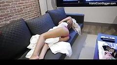 Hot blonde slut wants my cock. Cum on body. Cute whore fucks