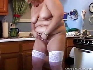 Amateur fatty Cute and cuddly mature amateur fatty shows off her lovely