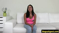 Bigtitted casting babe riding reversecowgirl