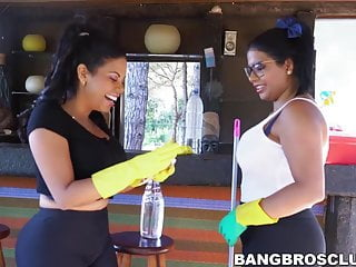 Andy dick cafe audrey oct 2010 Naughty latinas share a lucky dick at an outdoor cafe