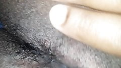 Slow pussy massage close up