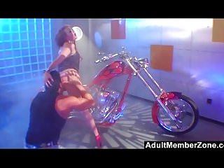 Biker chick flashing boobs - Biker chick audrey hollander gets hard anal