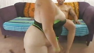 Big Ass BBW Trista Lace Fucks Her First Big Black Cock