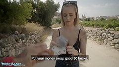 Public Agent Cute Spanish Blonde Lya Missy Fucked Outside