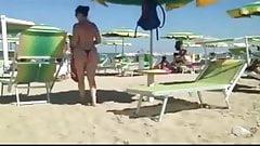 hot milf big butt on beach 2015