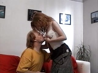 Young redheaded teens Redhead teen girl and older man