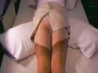 Sex pencil art Tight pencil skirt tan stockings