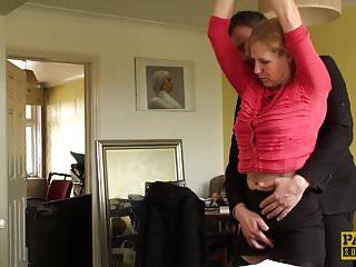 Girl condom anal ontop - British sub milf bouncing ontop maledoms cock
