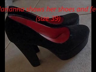 Size 11 shoes for teens Marianna shows her shoes and feet size 39