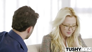 TUSHY - First Anal For Blonde Babe Samantha Rone