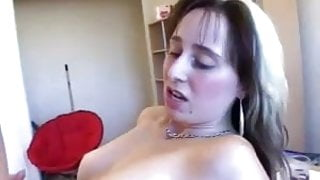 French amateur milf fucked in the kitchen