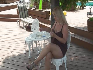 Bit tit matures Bit tit blonde granny outdoors
