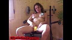 Big Boobed British Babe In A Gym