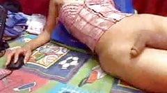 CUKEGIRL Brunette Webcam Teasing Shemale