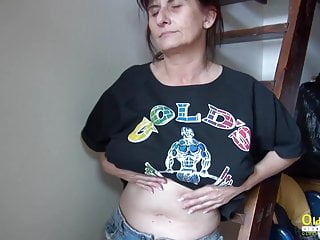 Solo mature tube - Oldnanny solo mature lady fingering masturbation