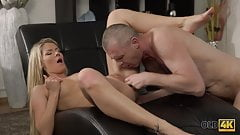 OLD4K. Claudia Mac reaches orgasm thanks to skilled mature..