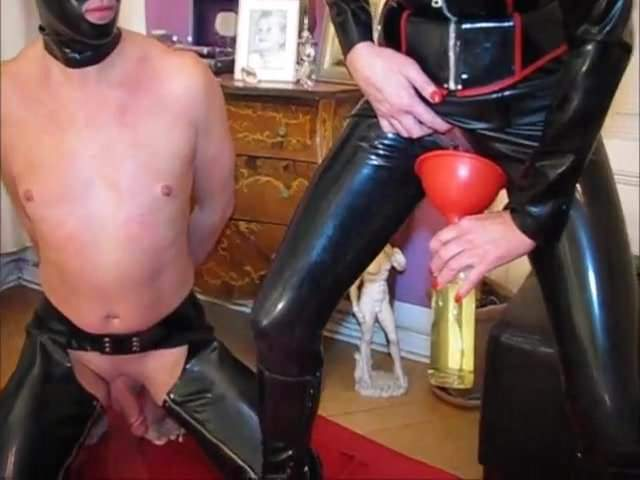 Mistress Sucks Slave Cock