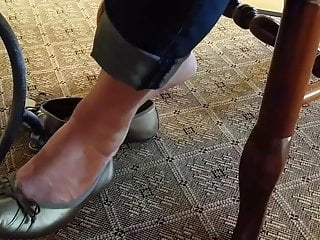 Vintage hotel silver Silver ballet flats shoeplay and crush preview vid