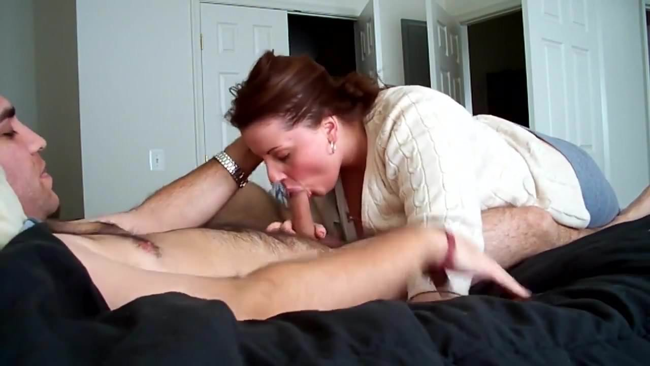 She Finishes Off Cum Mouth
