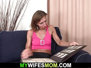 Gradmother mother son in-law cum suck - Mother riding her son in laws cock