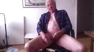 Grandad manages to cum