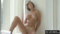 Really pretty Euro girl masturbating to orgasm