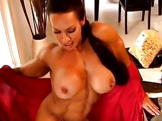 Big clit masturbation A big clit muscled woman masturbate