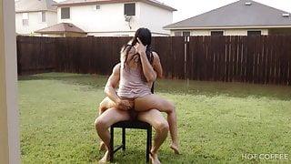 Romantic sex under the rain in Texas