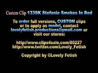 Gay amateur video sales Custom clip 133sk stefanie smokes in bed - 06:08min, sale:8