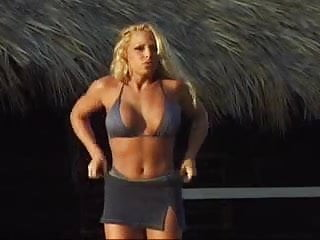 Trish stratus sexy table Trish stratus - divas postcard from the caribbean skirt