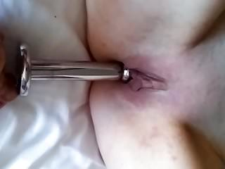 Porno girl cranks car Fuk hole juicer crank dildo and butt plug toy