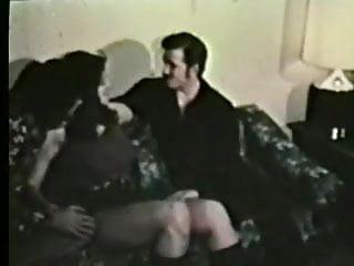 1970s hairy porn - Cute busty in threesome - circa 1970