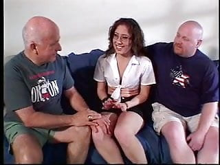 Same sex debate - Sexy wife sucks her husband and another guys cock at the same time