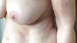 My wife Astrid shows her 69 yo hot body
