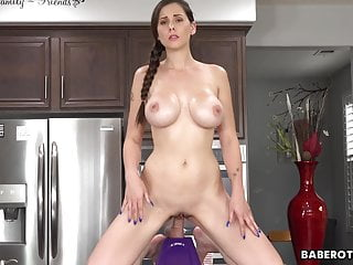 Stoned chicks fucked - Solo chick, lilian stone is riding a huge dildo, in 4k