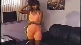 Orange Spandex Short Suit