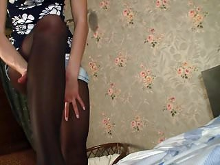 Young lady boys pantyhose Young pantyhose lady 03