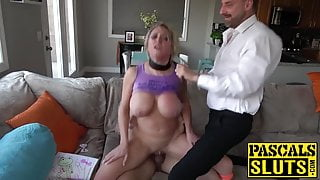 Sub MILF choked and ass destroyed by dominant UK males