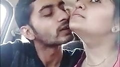 Sweet Indian couple making love