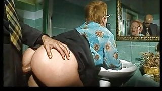 Busty milfs share giant cock
