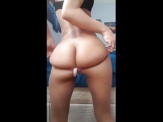 Black fat naked pussy Slim ass naked twerk - shows pussy