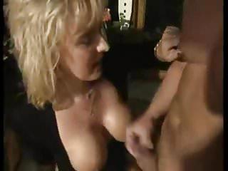 Pendulous mature - Cleaning semen off mom janets pendulous tits