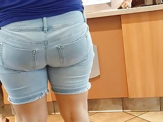 Mexican short stories on sex Candid big booty mexican milf in tight jean shorts.
