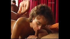 Swinger woman like destroyed your pussy with a huge dildo