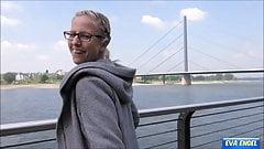 EVA ENGEL: Risky public flashing leads to best orgasm ever!