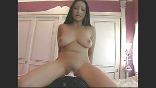 Orgasm for brown girl on the Sybian