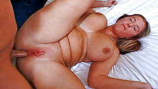 Large breasted British chubby banged in her backdoor