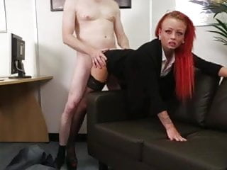 Cop demands oral sex Redhead femdom demands tiny cock