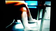 Maria's legs and feet show. I finally found her footage